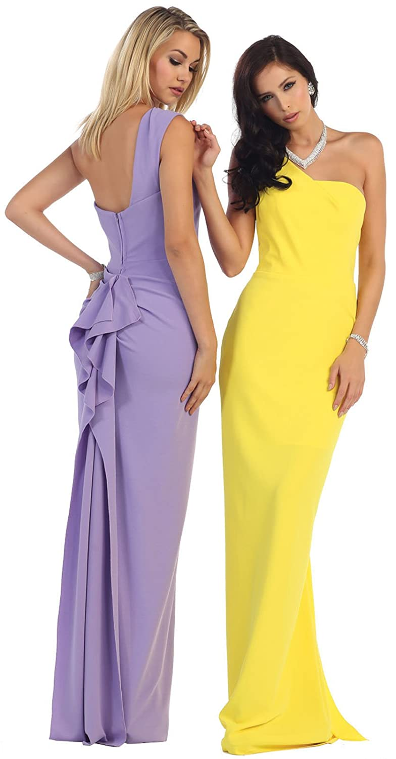 Amazon.com: Royal Queen RQ7363 One Shoulder Stretchy Prom Dress: Clothing