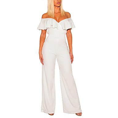 086f096b5b1 Amazon.com  Cosics Wide Leg Jumpsuits