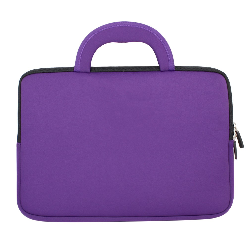 Evecase HP Stream 11 UltraPortable Handle Carrying Portfolio Neoprene Sleeve Case Bag for HP Stream 11 11-d010nr Notebook 11.6 inch Laptop - Purple by Evecase (Image #3)