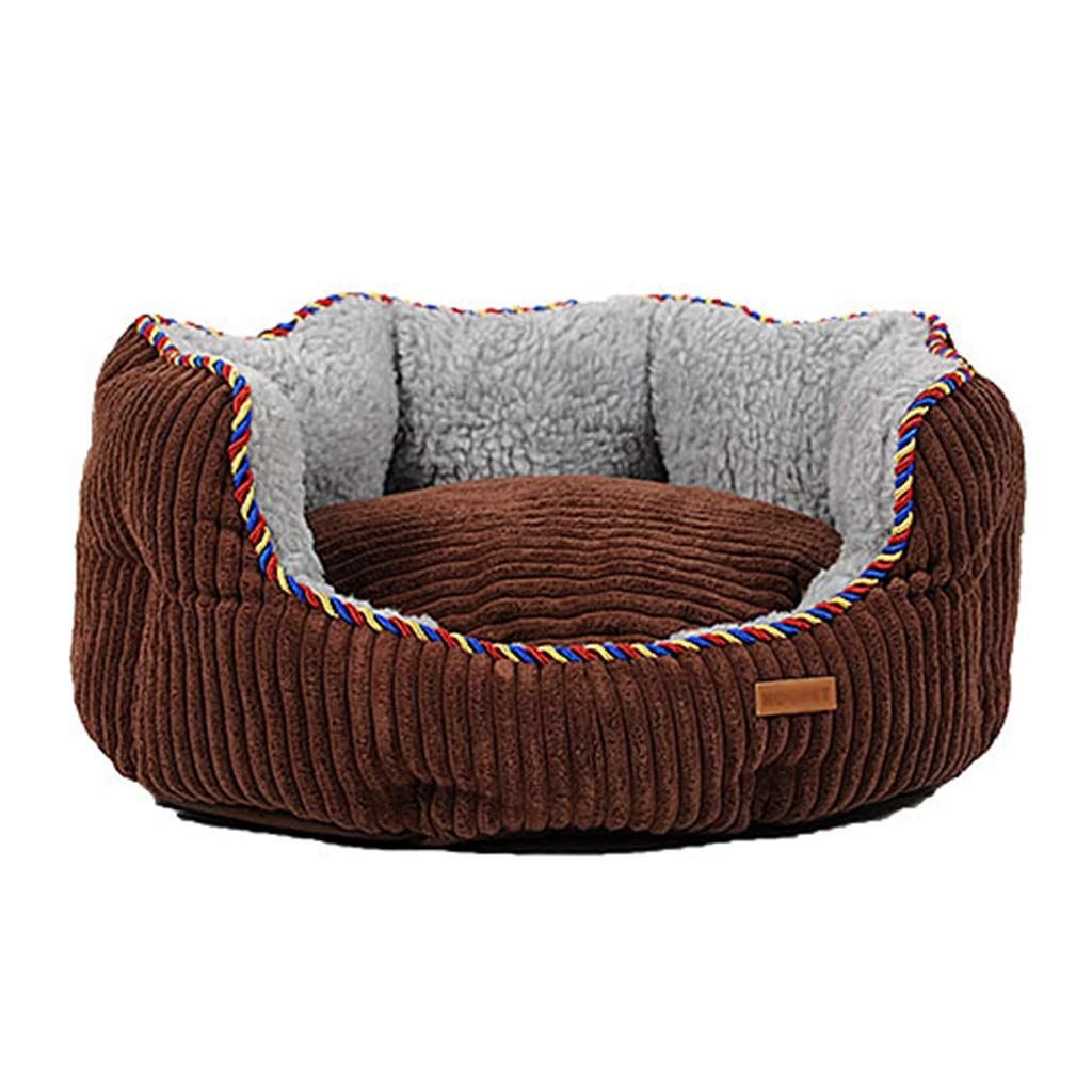 75×70×20cm Qz Dog Bed for Small Dogs, Durable Indestructible Washable Removable Puppy Kennel Beds for Doggie Doggy, Brown (Size   75×70×20cm)