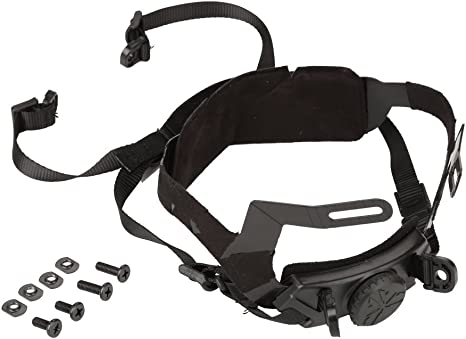 T-best Adjustable Helmet Liner Kit Head Locking Chin Strap for Outdoor Tactical Helmets with Bolts and Screws