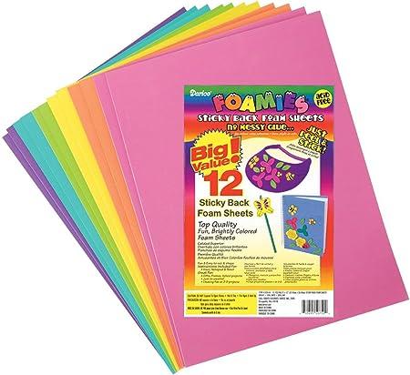 Darice Geometric-Bright Colors-Assorted Foamies Shapes