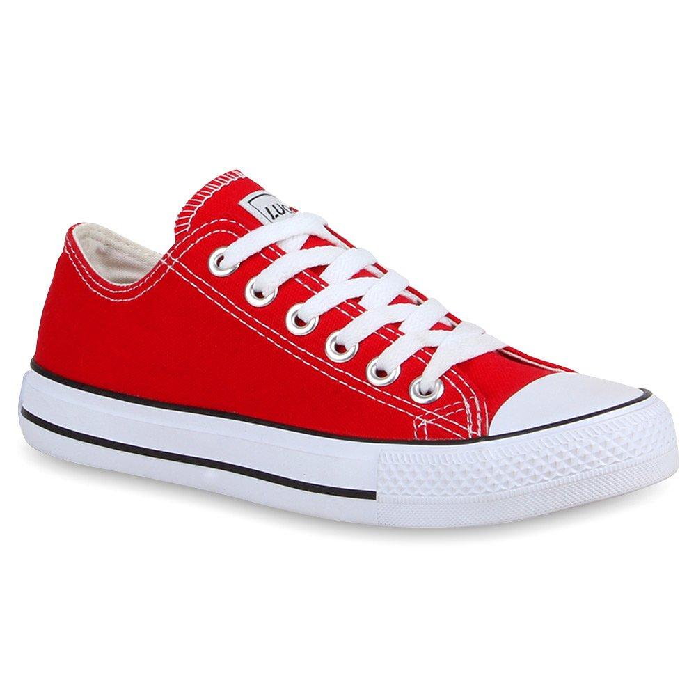 Stiefelparadies Unisex Damen Herren Rot Sneaker Low Übergrößen Flandell Rot Herren Ambler 94e84a