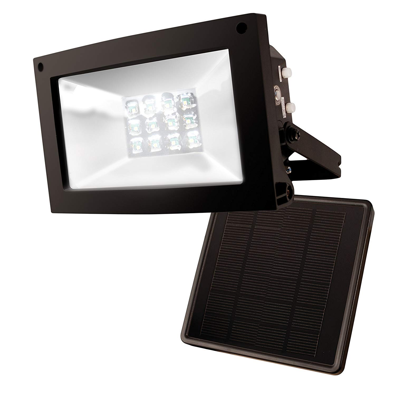 MAXSA Innovations Motion-Activated Solar Security Camera and Floodlight - 44642 CAM BK Maxsa