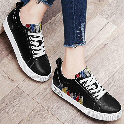 Casual Zapatos Zapatos Black Encaje amp;G Estudiante NGRDX Blancos Zapatos 0z7cZx