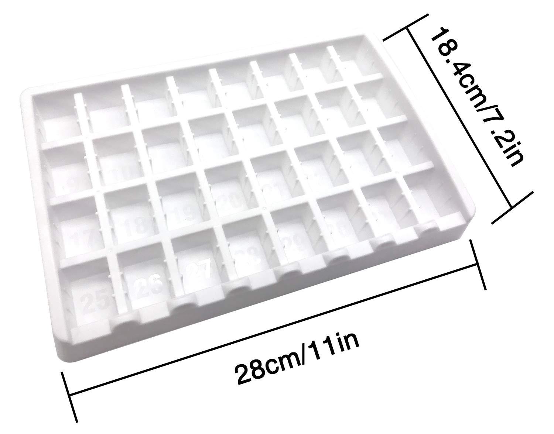 PuTwo Pastillero 31 días 4 Veces al Día Dispensador de Medicamentos Mensual Pastillero Organizador Plástico con Base Blanca Medicamentos Organizador ...