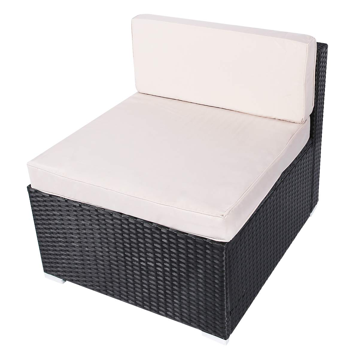 Amazon.com: Esright - Juego de muebles seccionales de mimbre ...