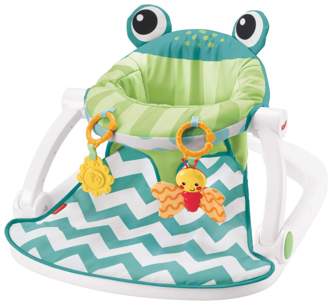 Fisher-Price Sit-Me-Up Floor Seat, Citrus Frog Amazonca/FISNE CMH49