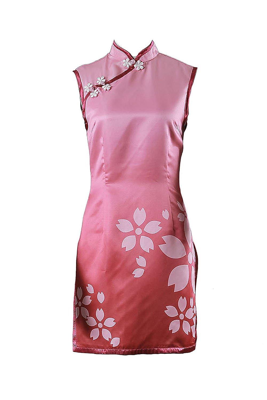 Barato De-Cos Cosplay Costume Hidden Leaf Shinobi Genin Haruno Sakura Dress Outfit V4