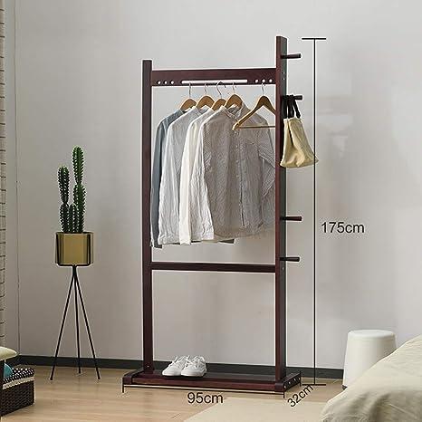 Amazon.com: MEIDUO - Perchero de madera maciza para ropa ...