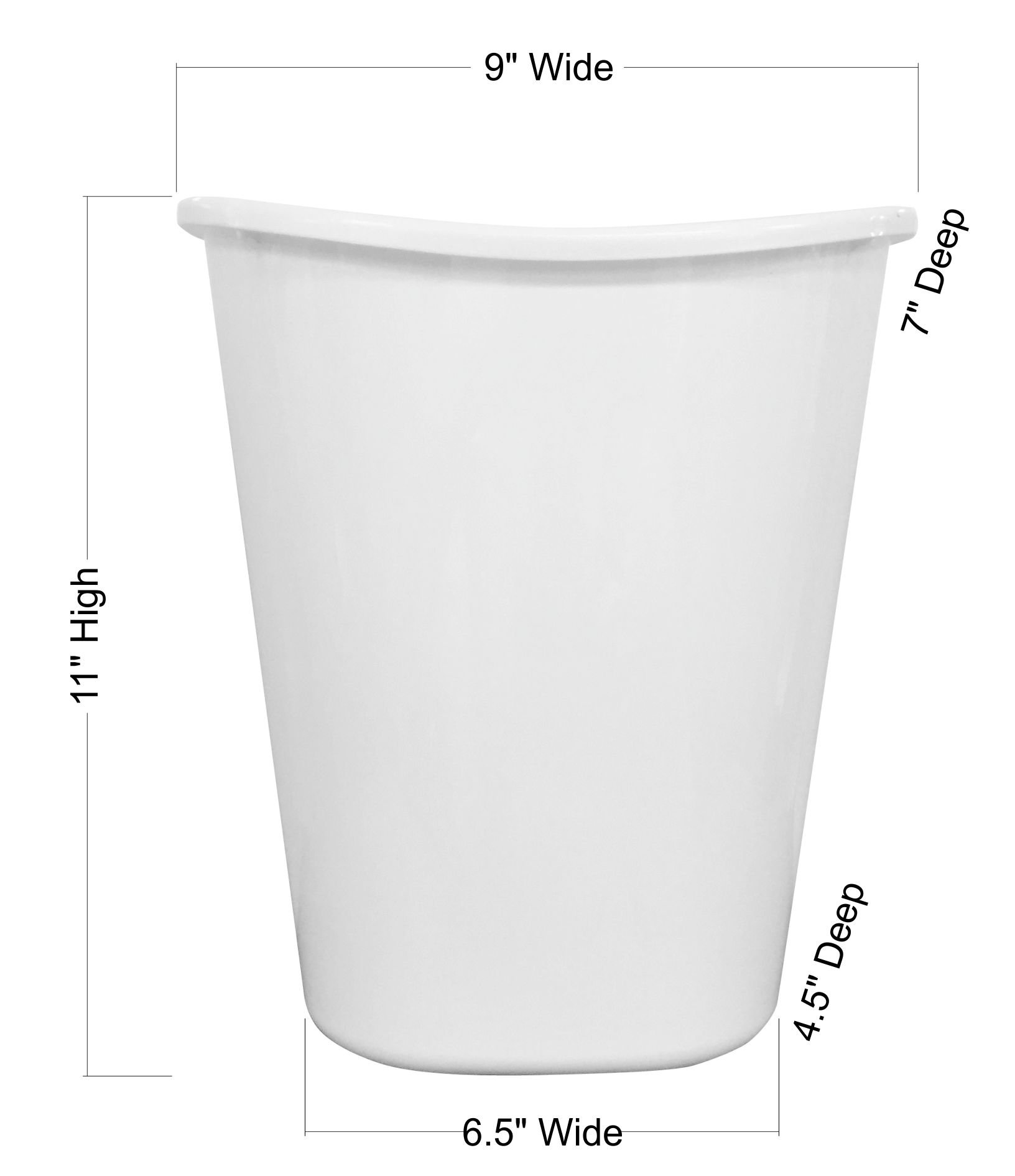 RNK Shops Easter Birdhouses Waste Basket - Double Sided (White) (Personalized) by RNK Shops (Image #3)