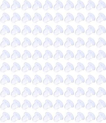 Amazon Com Kridzisw 100 Pcs 20g Lastic Clear Earrings Posts And