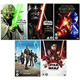 Star Wars 1 - 9 Complete DVD Collection: Episode 1 - Phantom Menace / Episode 2 - Attack Of the Clones / Episode 3 - Revenge of the Sith / Episode 4 - The New Hope / Episode 5 - The Empire Strikes Back / Episode 6 - Return of the Jedi / Episode 7 - The Force Awakens / Episode 8 - Rogue One: A Star Wars Story / Episode 9 - The Last Jedi
