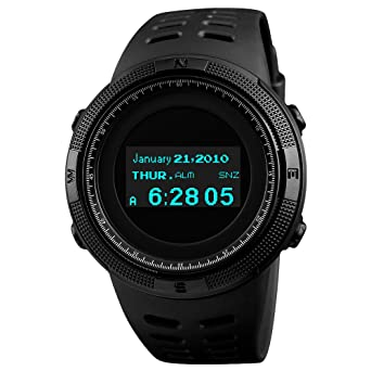 Skmei Smart Watch Mens Multi-function Led Display Compass Thermometer Alarm Clock Date Waterproof Digital Sports Electronic W Fine Quality Digital Watches