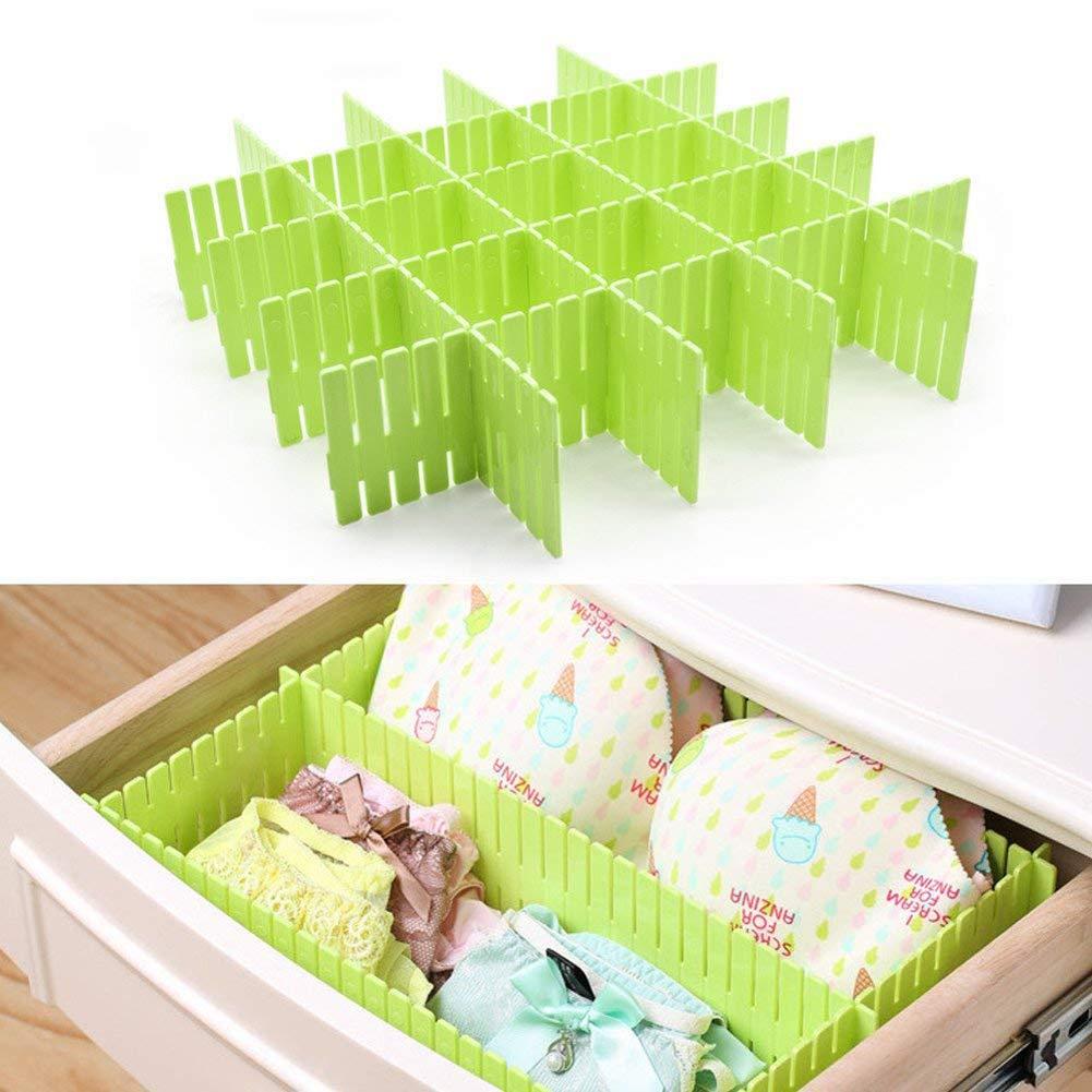 Outtybrave 8/pcs tiroirs de Rangement intercalaire DIY Organiseur de Plan de Cabinet de Stockage Plastique 32.5 * 7cm Green