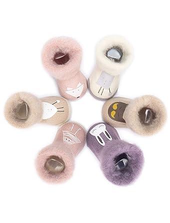 Adorel Calcetines con vellón Invierno para Bebé 6 pares: Amazon.es: Ropa y accesorios