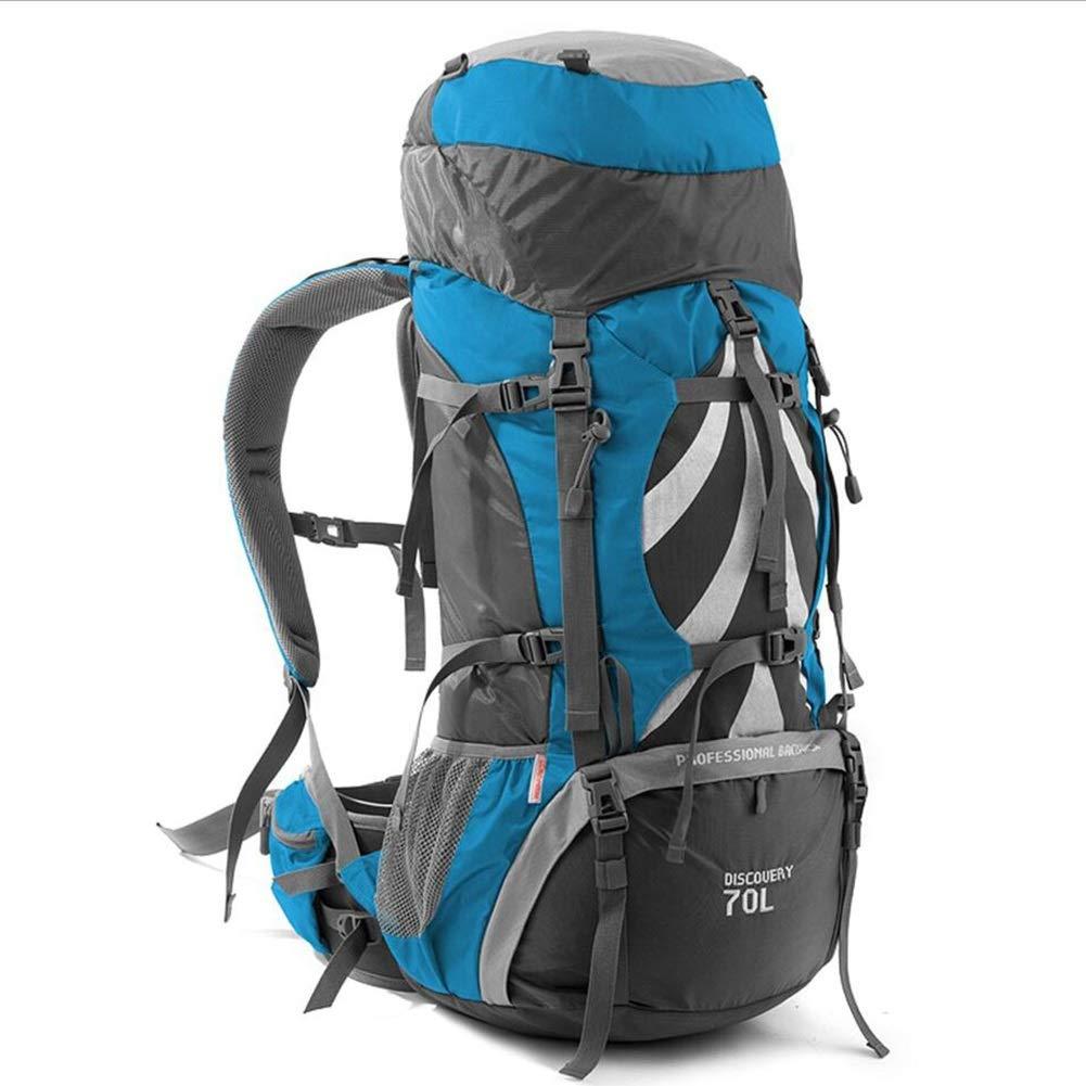 ハイキング旅行バックパックトレッキング登山キャンプ登山用リュックサック男性女性 CONGMING (色 : 青, サイズ さいず : 70L) 70L 青 B07QG9QYKK