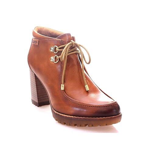 PIKOLINOS Botin Tacon Alto WALLABE Mujer Brandy 40: Amazon.es: Zapatos y complementos