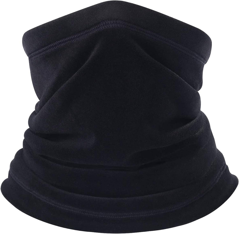 B BINMEFVN Polar Fleece Neck Warmer - Windproof Winter Neck Gaiter Cold Weather Face Mask for Men Women - 1 or 2 Pack: Clothing