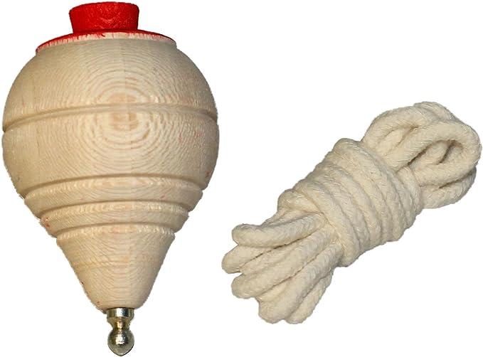 Artema - Peonza de madera clásica con cuerda: Amazon.es: Hogar