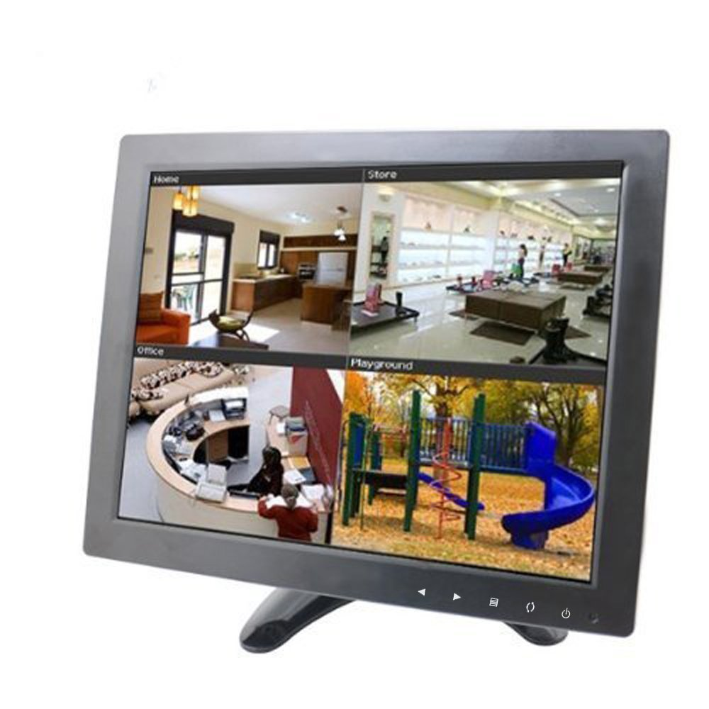 Sourcingbay Updated YT10 CCTV Monitor 9.7 inch TFT LCD Screen with AV, HDMI, BNC, VGA Input for PC Security Cam CCTV DVR System Pixels 1024 x 768 (Black) by Sourcingbay