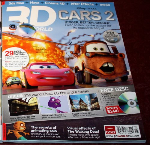 "3D World Magazine ""Cars 2"" #145 August 2011 (Single Issue)"