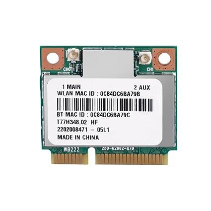 Vbestlife Tarjeta de WiFi Inalámbrica Dual Band 2.4G / 5Ghz AR5B22, Tarjeta de Red 300Mbps de Bluetooth 4.0 , Mini WiFi Tarjeta PCI-E