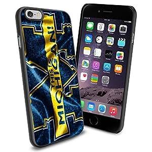Michigan M, Cool iPhone 6 plus Case Cover Collector iPhone TPU Rubber Case Black