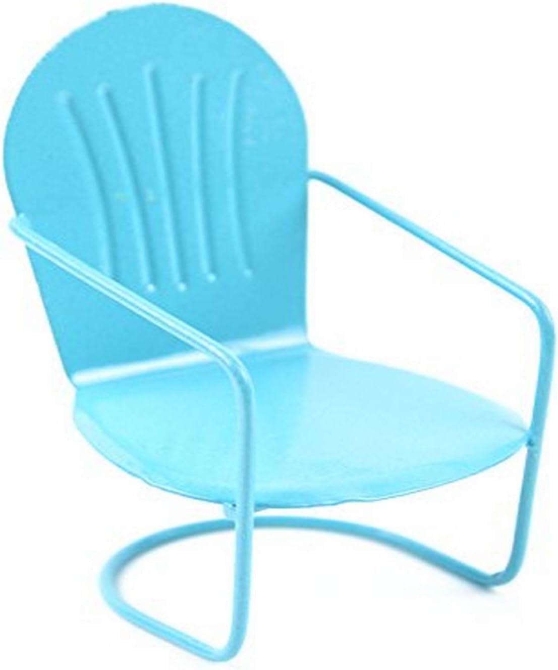 Touch of Nature Miniature Garden Glider Chair, Pastel Blue, 3-Inch