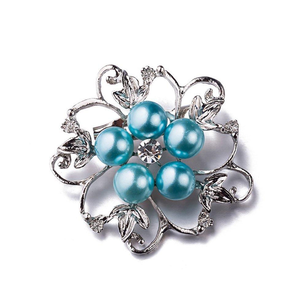 Impression 1Pcs Serie Brosche elegante Mode Brosche Design für Hochzeit Legierung Schal Clip Liebhaber Geschenk Schneeflocke Blume Design Form YXYP YXDE0124