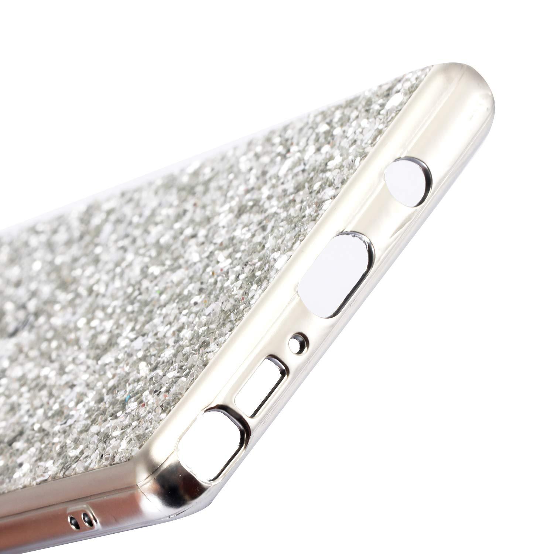 Huphant Samsung Note 8 H/ülle Silikon PC+TPU Glitzer Handyh/ülle Samsung Galaxy Note 8 Case Sparkle Phone Case Sto/ßfest Ultra Slim Anti-Scratch Sto/ßf/änger R/ückseitige f/ür Samsung Galaxy Note 8 Gold