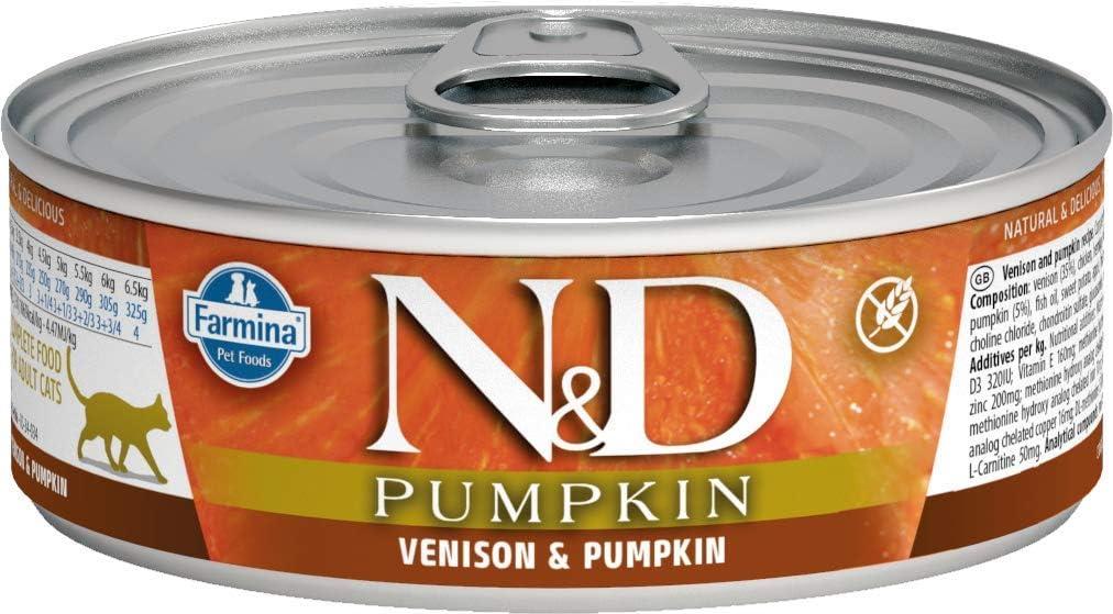 Farmina Natural & Delicious Venison, Pumpkin and Apple for Cats, 2.8 Ounces, Case of 12