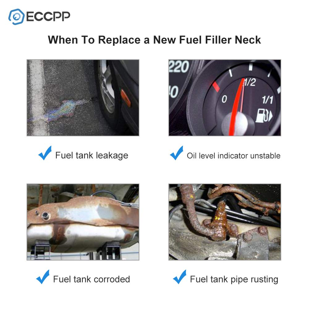 ECCPP Fuel Gas Tank Filler Neck Tube Pipe 52018519 Fuel Tank Tube Fit for 1998-2001 Dodge Ram 1500 1998-2002 Dodge Ram 2500