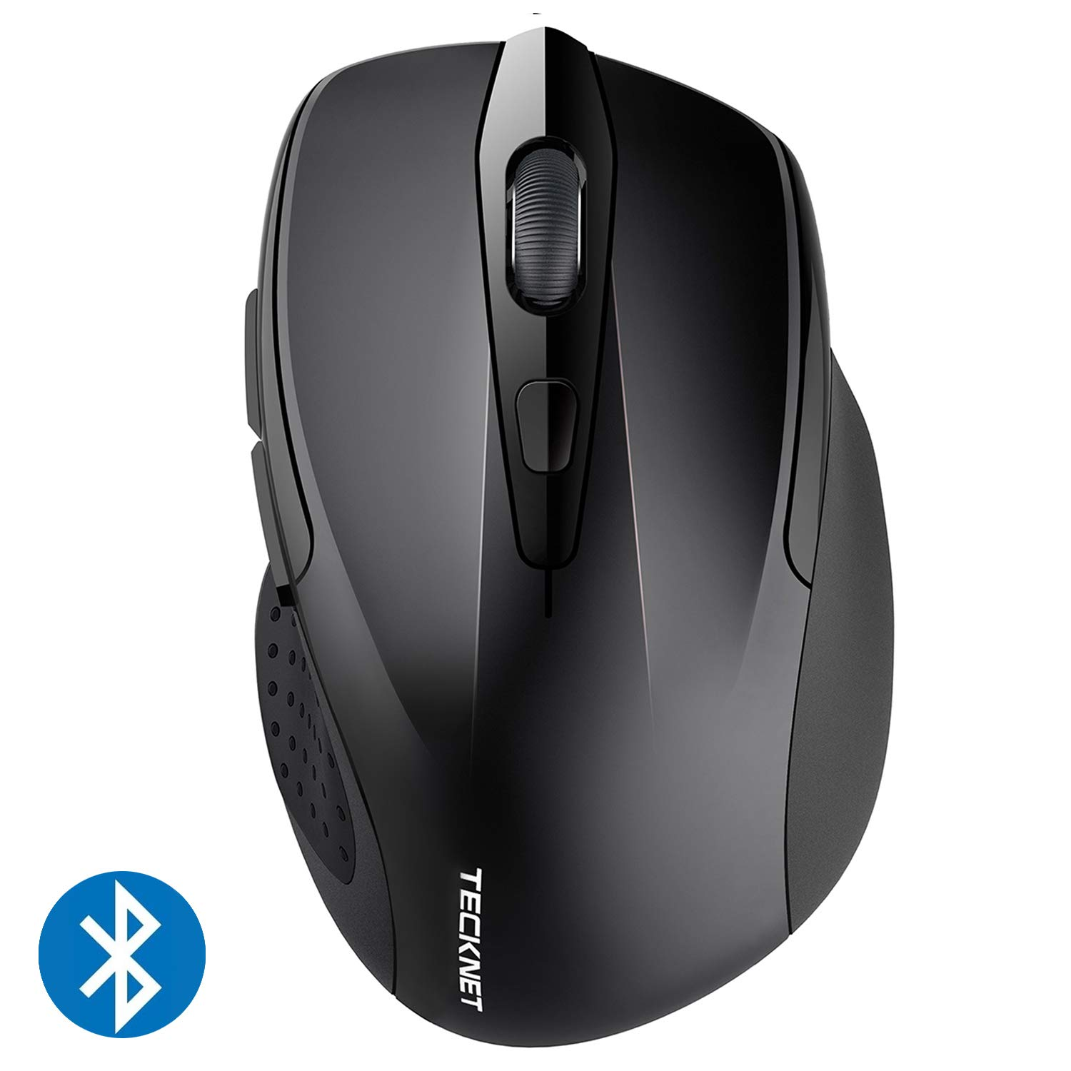 fefcdc1dcaf Amazon.com: TeckNet 2600DPI Bluetooth Wireless Mouse, 12 Months Battery  Life with Battery Indicator, 2600/2000/1600/1200/800DPI (Black): Computers  & ...
