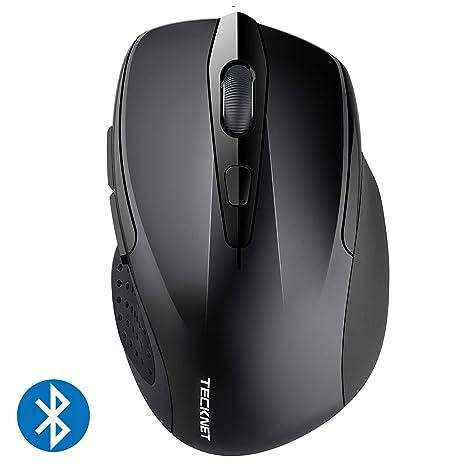 TeckNet Ratón Inalámbrico Bluetooth, Pro Wireless Mouse con Indicador de Batería, 5 Niveles dpi