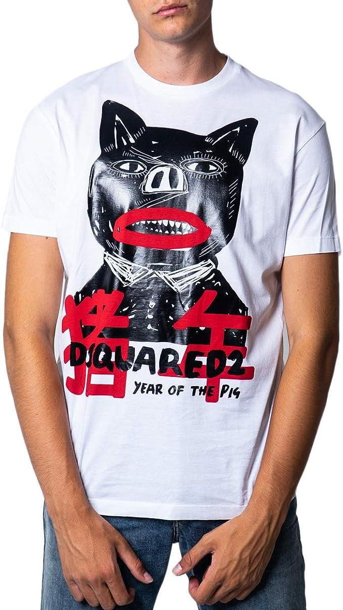 Dsquared2 - Camiseta para hombre blanco XS: Amazon.es: Ropa y accesorios