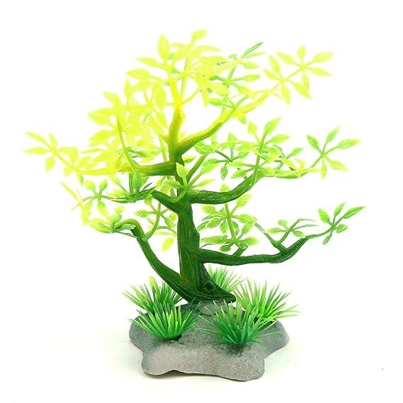 Amazon.com : ZCHXD Plastic Mini Lifelike Tree Aquarium Betta Tank ...