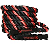 "Battle Ropes with Anchor Kit and Nylon Protector Included - Fitness Undulation Rope Exercise - Cross Strength Training - CrossFit Circuits Workout (1.5"" x 30 ft)"