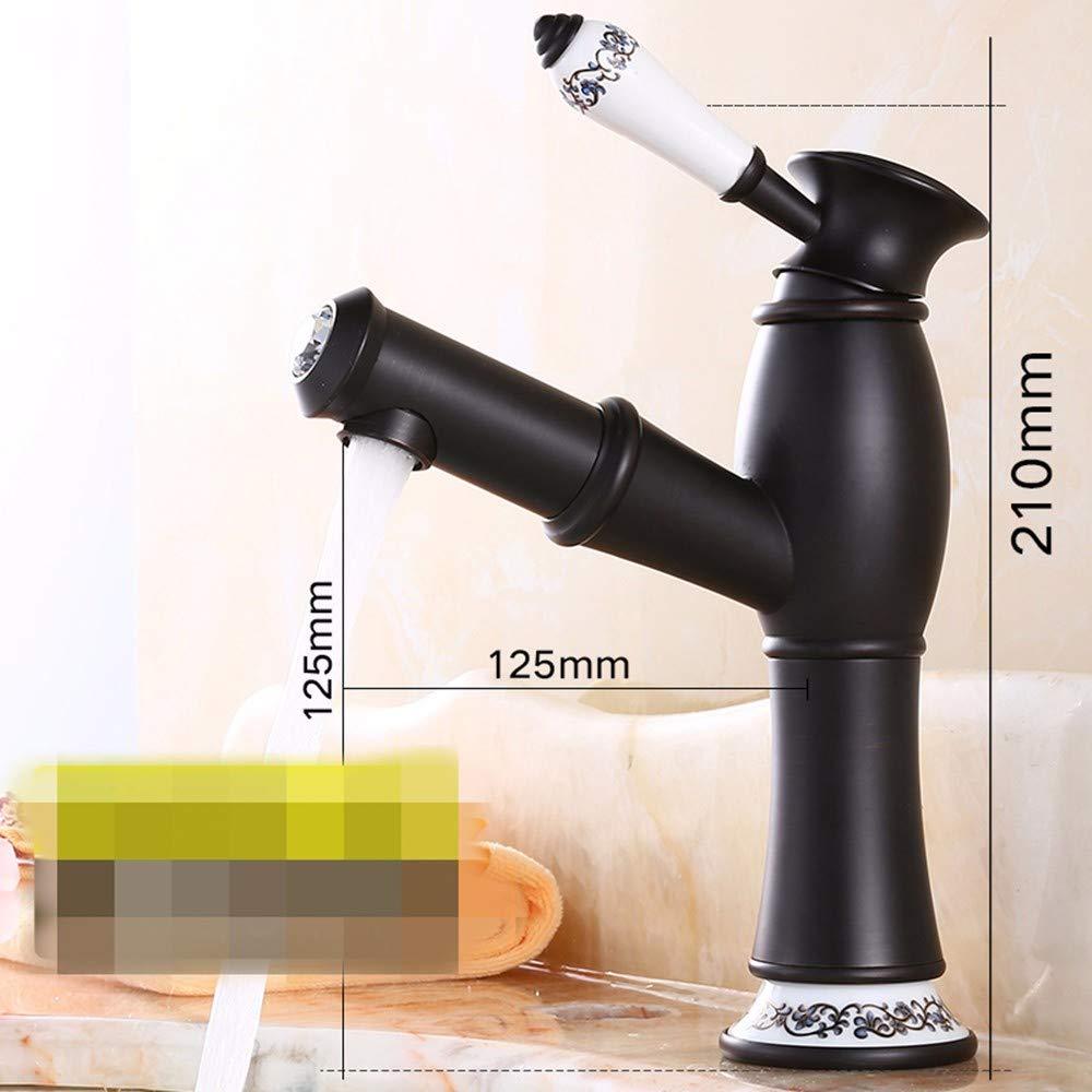 Hlluya Wasserhahn für Waschbecken Küche Die messingbeschläge auf dem Goldenen Topf mit heißem und kaltem fließendem Wasser ziehen M