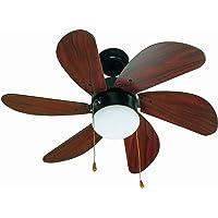 Faro Barcelona 33185 - PALAO Ventilador de techo con luz 6 palas de madera MDF,…