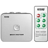 Audiorekorder, docooler EZCAP Audio Capture Recorder Musik Digitizer mit 3,5 mm und RCA IN Ports Speichern auf SD Karte USB-Scheibe als MP3-Datei mit Fernbedienung