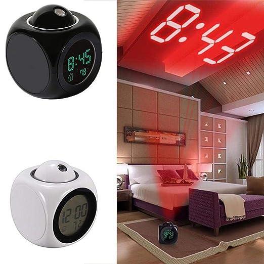 melysEU Despertador Proyector,Reloj Despertador de proyección con ...
