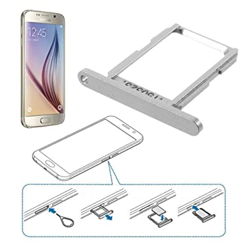 carte sim samsung galaxy s6 Sled Slot Card NANO SIM Card SIM Card Tray Holder for: Amazon.co