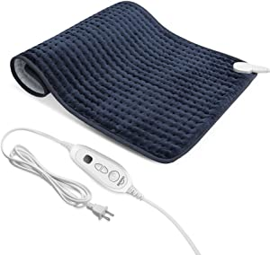 "XXX-Large(33"" x 17"") Heating Pad, Electric Heating Pad for Back Pain and Cramps Relief,Moist and Dry Heat Therapy,6 Heat Levels with Auto-Off,Fast Soothe Muscle Cramps and Soreness Heated Pad"