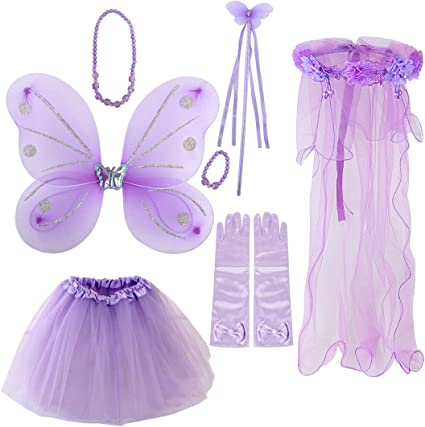 FAIRY PRINCESS BIRTHDAY SHIMMERY FAIRY FANCY DRESS /& HEAD GARLAND age 4-5 NEW