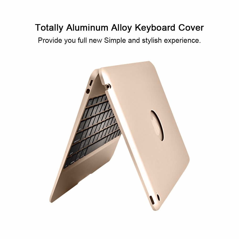 YOUCable iPad Pro 9.7 iPad Air 2 Keyboard Bluetooth 7-color LED Backlit Aluminum Slim Wireless Keypad with Built-in 2800mAh Power Bank for iPad Pro 9.7 / iPad Air 2 (gold) by YOUCable (Image #8)