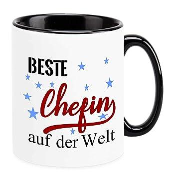 Amazon De Tasse Beste Chefin Auf Der Welt Lustige Spruche Geschenk