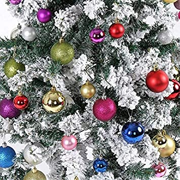 Ilovediy 24 Stuck Weihnachtskugeln Box Christbaumschmuck Aus
