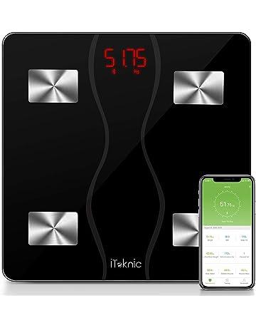 iTeknic Báscula Inteligente Multifuncionales con Bluetooth Smartphone Compatible Andriod 4.3 y IOS 8 o Superior con