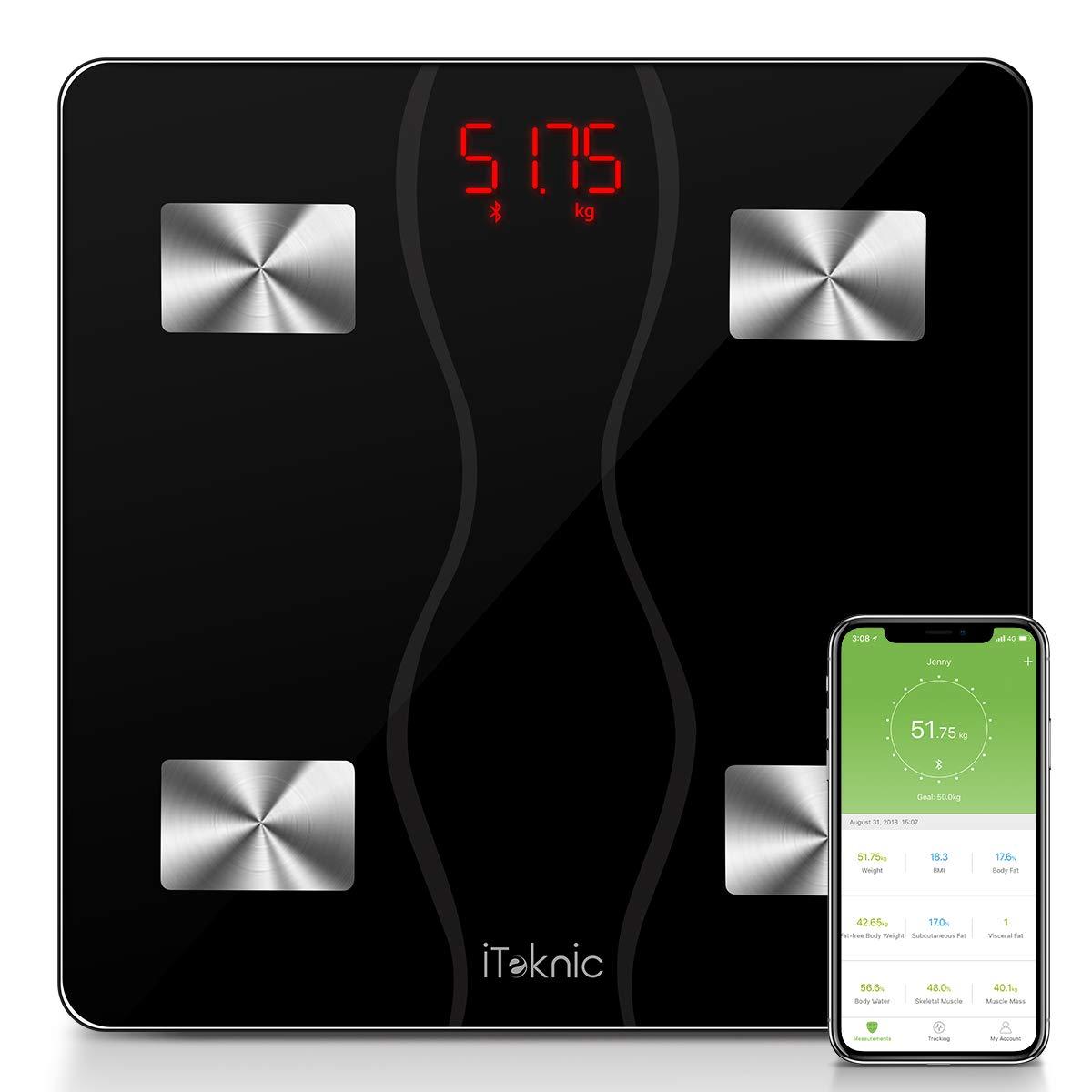 iTeknic Báscula Inteligente con Bluetooth